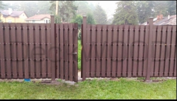 Забор из террасной доски